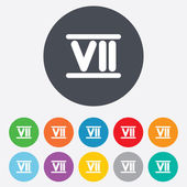 Roman numeral seven icon. Roman number seven sign. — Stock Photo