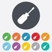 Screwdriver tool sign icon. Fix it symbol. — Stock Photo