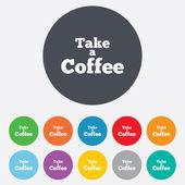 Weź ikona znak kawy. kawa od symbolu. — Zdjęcie stockowe