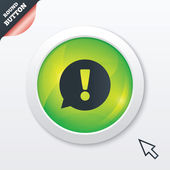 Exclamation mark sign icon. Attention symbol. — Cтоковый вектор