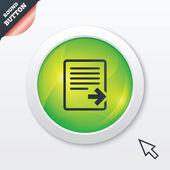 Export file icon. File document symbol. — Vector de stock