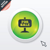 For sale sign icon. Real estate selling. — Stock Vector