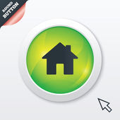 Home sign icon. Main page button. Navigation — Cтоковый вектор
