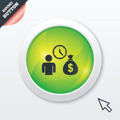 Bank loans sign icon. Get money fast symbol. — Stockvektor