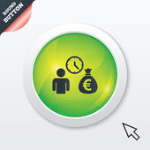 Bank loans sign icon. Get money fast symbol. — Vettoriale Stock