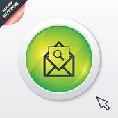 Sökikonen e-post. kuvertsymbol. meddelande tecken. — Stockvektor