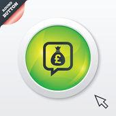 钱袋子签名图标。英镑 gbp 货币. — 图库矢量图片