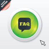 FAQ information sign icon. Help symbol. — Fotografia Stock