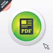 PDF file document icon. Download pdf button. — Stock fotografie