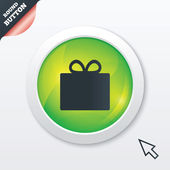 Gift box sign icon. Present symbol. — Stock Photo