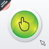 Hand cursor sign icon. Hand pointer symbol. — Photo
