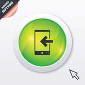 Incoming call sign icon. Smartphone symbol. — Stock Photo