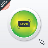 Live sign icon. On air stream symbol. — Stok fotoğraf