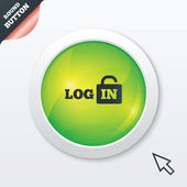 Login sign icon. Sign in symbol. Lock. — Photo