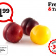 Isolated red and yellow ripe plums (white) — Stock Photo #43806319