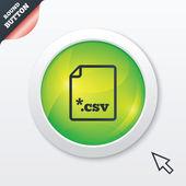 File document icon. Download CSV button. — Stock Vector