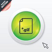 Gif 文件标志图标。下载图像文件. — 图库矢量图片