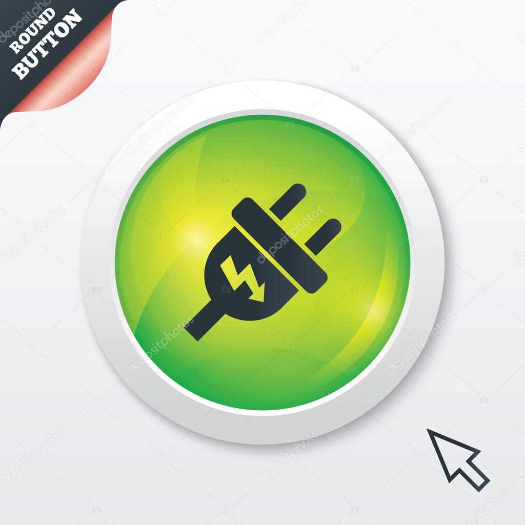 Plug Power Stock Quote: Electric Plug Sign Icon. Power Energy Symbol.