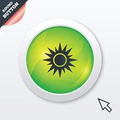 Sun sign icon. Solarium symbol. Heat button. — Stock Vector