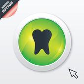 Tooth sign icon. Dental care symbol. — 图库矢量图片