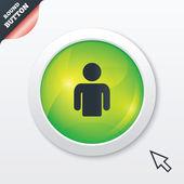 Gebruiker teken pictogram. persoon symbool. — Stockvector