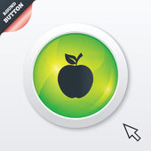 Apple sign icon. Fruit with leaf symbol. — Stock Photo