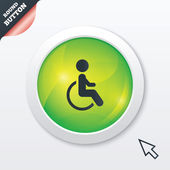 Disabled sign icon. Human on wheelchair symbol. — Stock Photo