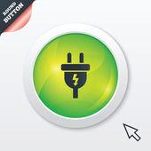 Icona del segno di spina elettrica. simbolo di energia elettrica. — Foto Stock