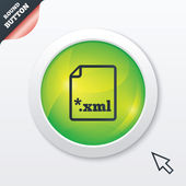 File document icon. Download XML button. — Stock Photo