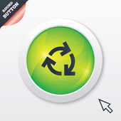 Recycling sign icon. Reuse or reduce symbol. — Stock Photo