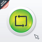 Repeat icon. Loop symbol. Refresh sign. — 图库照片