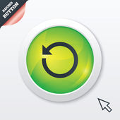 Repeat icon. Refresh symbol. Loop sign. — 图库照片
