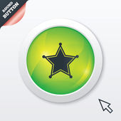 Star Sheriff sign icon. Police button. — Stock Photo