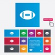 Постер, плакат: American football sign icon Team sport game