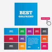 Best girlfriend sign icon. Award symbol. — Vetorial Stock