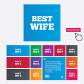 Best wife sign icon. Award symbol. — 图库矢量图片