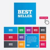 лучший продавец знак значок. лучший продавец награду символ — Cтоковый вектор
