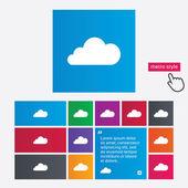 ícone de sinal de nuvem. símbolo de armazenamento de dados. — Vetor de Stock
