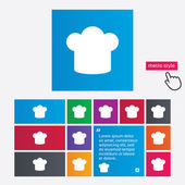 Chef hat sign icon. Cooking symbol. — Stockvektor