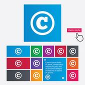 Copyright sign icon. Copyright button. — Vetorial Stock