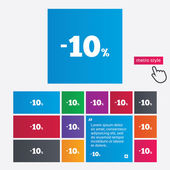 10 percent discount sign icon. Sale symbol. — 图库矢量图片