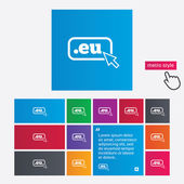 Domain EU sign icon. Top-level internet domain — Stock Vector