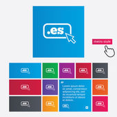 Domain ES sign icon. Top-level internet domain — 图库矢量图片