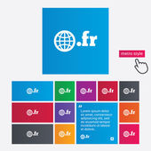 Domain FR sign icon. Top-level internet domain — 图库矢量图片