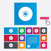 CD or DVD sign icon. Compact disc symbol. — Vetorial Stock