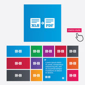 экспорт xls pdf значок. файл документа. — Cтоковый вектор