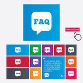 FAQ information sign icon. Help symbol. — Stock Vector