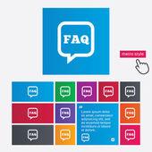 FAQ information sign icon. Help symbol. — 图库矢量图片