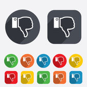 Dislike sign icon. Hand finger down symbol. — Stock Vector
