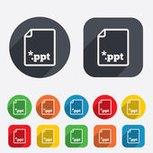File presentation icon. Download PPT button. — Stock Vector